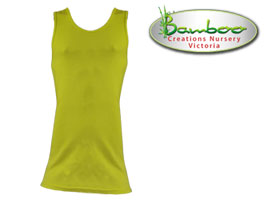 Mens singlets - Lemon