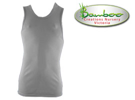 Mens singlets - Light grey