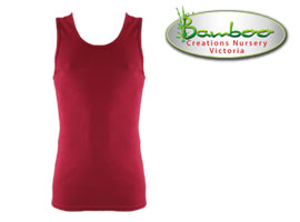 Mens singlets - Burnt Red
