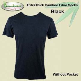 Mens bamboo T-shirt - Black