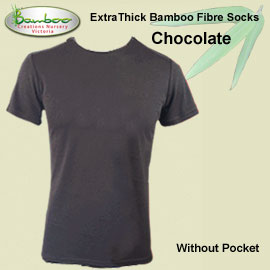 Mens bamboo T-shirt - Chocolate