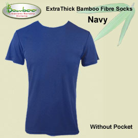 Mens bamboo T-shirt - Navy