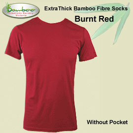 Mens bamboo T-shirt - Burnt Red