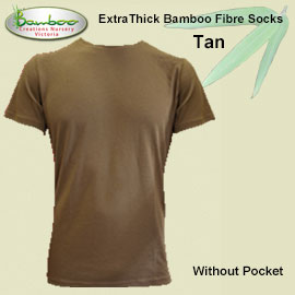 Mens bamboo T-shirt - Tan