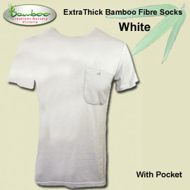 Mens bamboo T-shirt - White