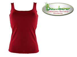 Womans singlets - Burnt Red