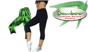 comfortable three quarter length leggings in comfortable bamboo fibre. Warm and comfortable for flexibility exercises.